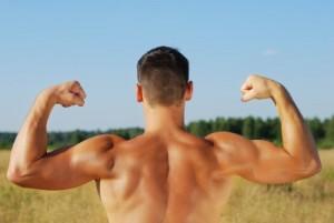muscular man, healthy weight