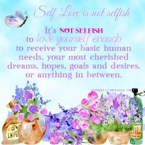 it's not selfish to receive